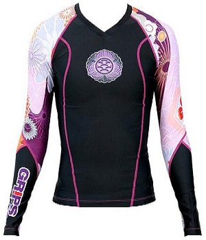 Grips Rashguard Black Flower Power