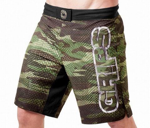 Grips MMA Short Camo Snake
