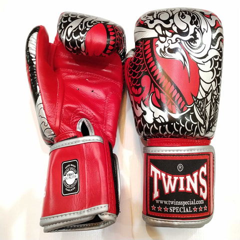 Twins Fancy Gloves Nagas Thai Dragon 14.oz