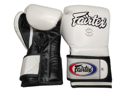 Fairtex BGV9 Mexican Style Gloves [White/Black]