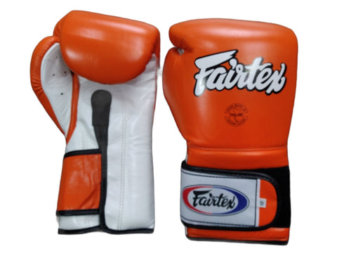Fairtex BGV9 Mexican Style Boxing Gloves [Orange/White]