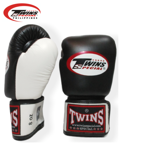 Twins Special Boxing Gloves [Black/White]