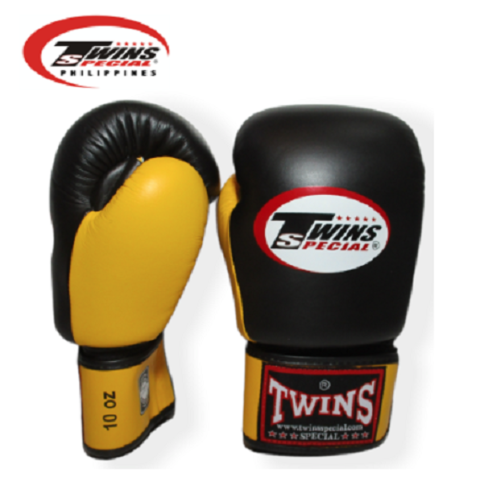 Twins Special Boxing Gloves [Black/Yellow]
