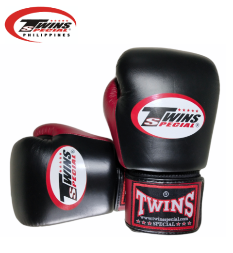 Twins Special Boxing Gloves [Black/Maroon]