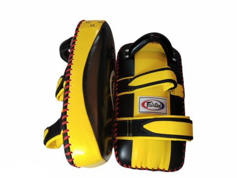 Fairtex Muaythai Thai Pads Curve [Black/Yellow]