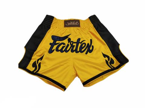 FAIRTEX  BS1701. New Slim Cut Muaythai Shorts [Yellow]