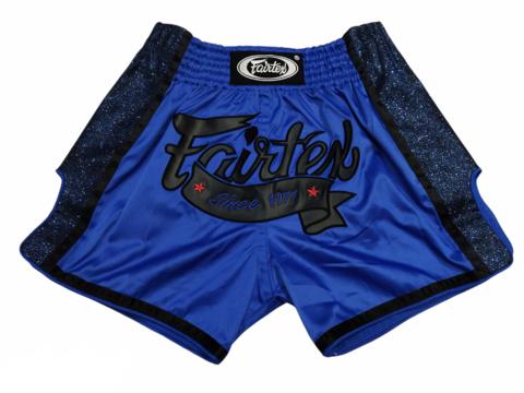 FAIRTEX BS1702. New Slim Cut Muaythai Shorts [Blue]