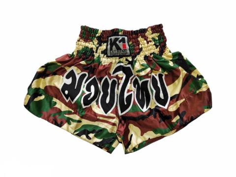 K-1 Muaythai Shorts [Green Camo]